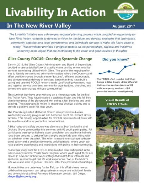 Livability in Action Fall 2017 Newsletter